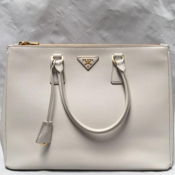 54603d85b09077 Prada Bags | 1ba786 Saffiano Lux Tote Bag Talco 044b | Poshmark
